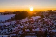 Sonnenuntergang über Meinerzhagen im Winter